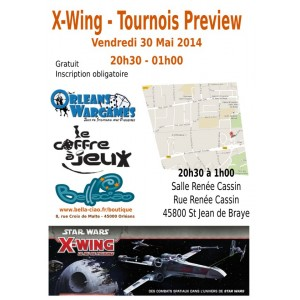 X-WING - Tournoi Preview Vague 4 - 30 mai 2014