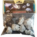 Set 6 Asteroides (socles et tiges inclus) - compatibles x-wing