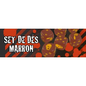 Zombicide : Set de DES MARRONS