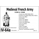 DBA3.0 - 4/64a MEDIEVAL FRENCH ARMY 1330 à 1346