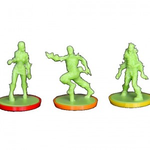 SOUS-SOCLES COLORES - lot de 9 - Compatible Zombicide