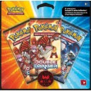 Pack 3 Booster Pokemon : DOUBLE DANGER - Team MAGMA