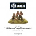 BOLT ACTION - USMC 81 mm Mortar Team - 28 mm