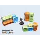 3 groupes de caissons - Cargo Crates set 2 (3)