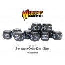 BOLT ACTION Orders Dice Packs - Black - set de 12 DES