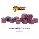 BOLT ACTION Orders Dice Packs - Maroon - set de 12 DES