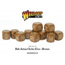 BOLT ACTION Orders Dice Packs - Brown - set de 12 DES
