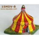 15 mm Medevial Tent battant ouvert
