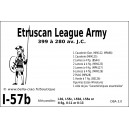 DBA3.0 - 1/57b ETRUSCAN LEAGUE ARMY 399-280BC