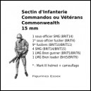Section d'Infanterie Commandos/Vétérans Commonwealth - 15 mm
