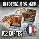 US & GE DECK CARTES ACTION - HEROES OF NORMANDIE - VF
