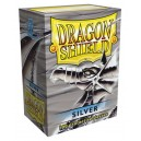 Dragon Shield - Standard - Silver - 100 PROTEGES CARTES