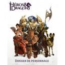 HEROS & DRAGONS - Dossier de personnage pas cher