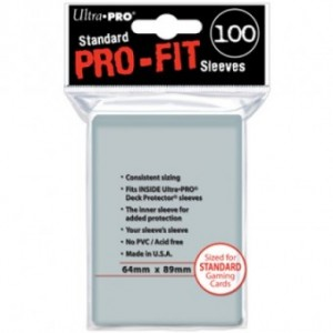 Ultra Pro - 100 Pro-Fit Sleeves - 64 x 89 mm