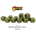 BOLT ACTION Orders Dice Packs - Green - set de 12 DES