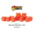 BOLT ACTION Orders Dice Packs - Red - set de 12 DES