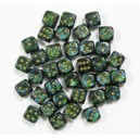 Set de 36 DES 6 - SCARAB - Jade/Or